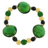 Murano Magic bracelet - emerald green