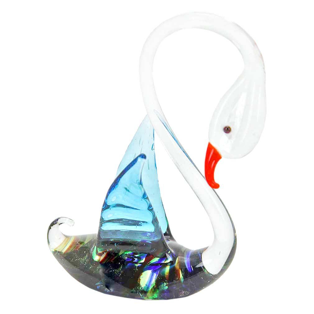 Striped Glass swan