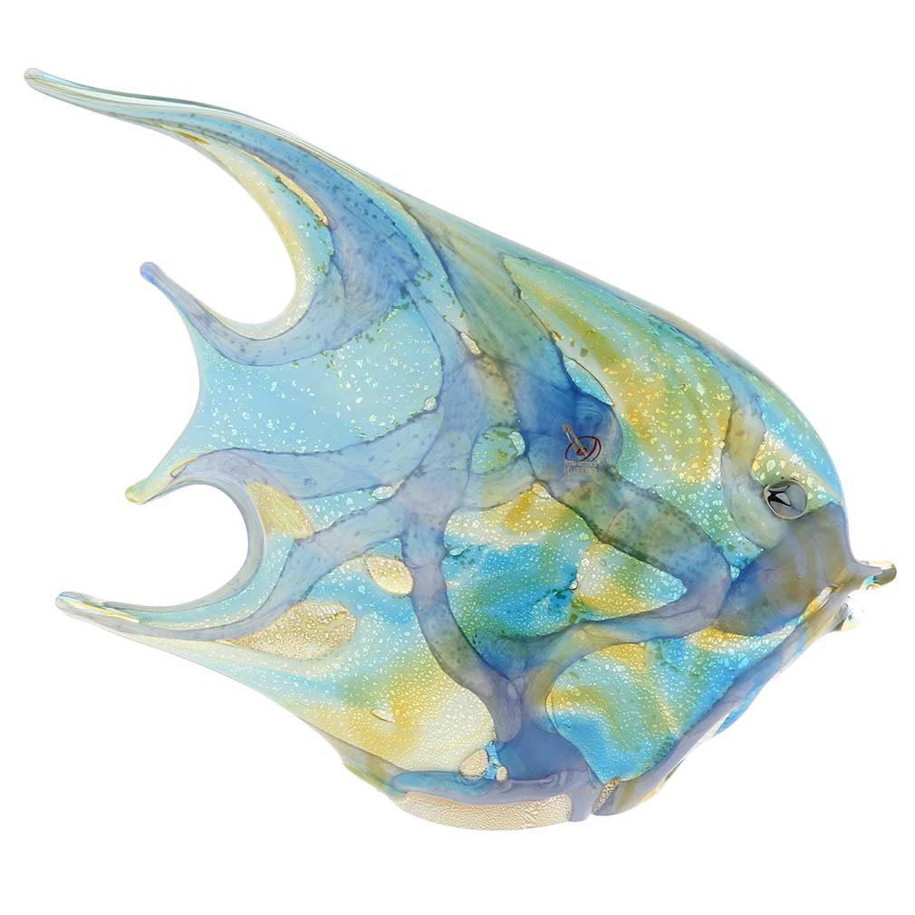 Murano Art Glass Shimmering Angel Fish