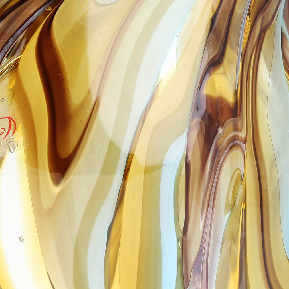 Murano Art Glass Angel Fish - Sommerso Swirls