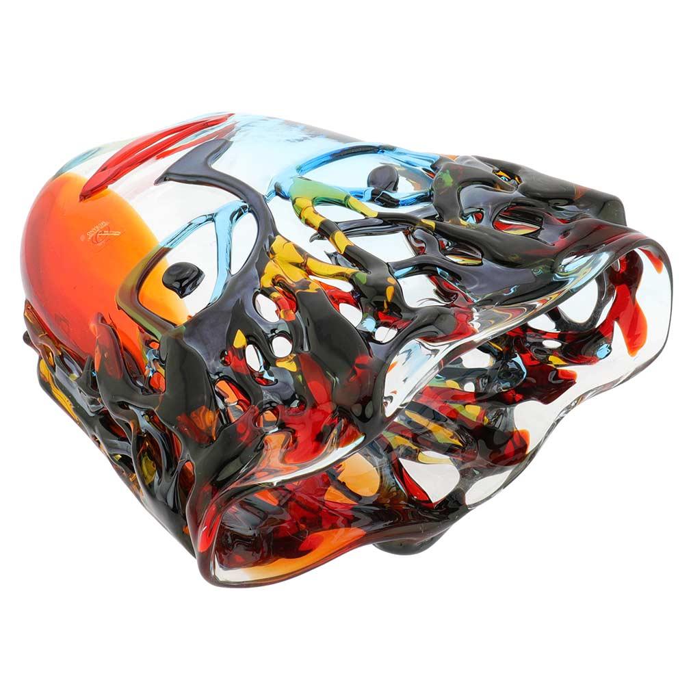 Murano Glass Picasso Head Vase - Wide