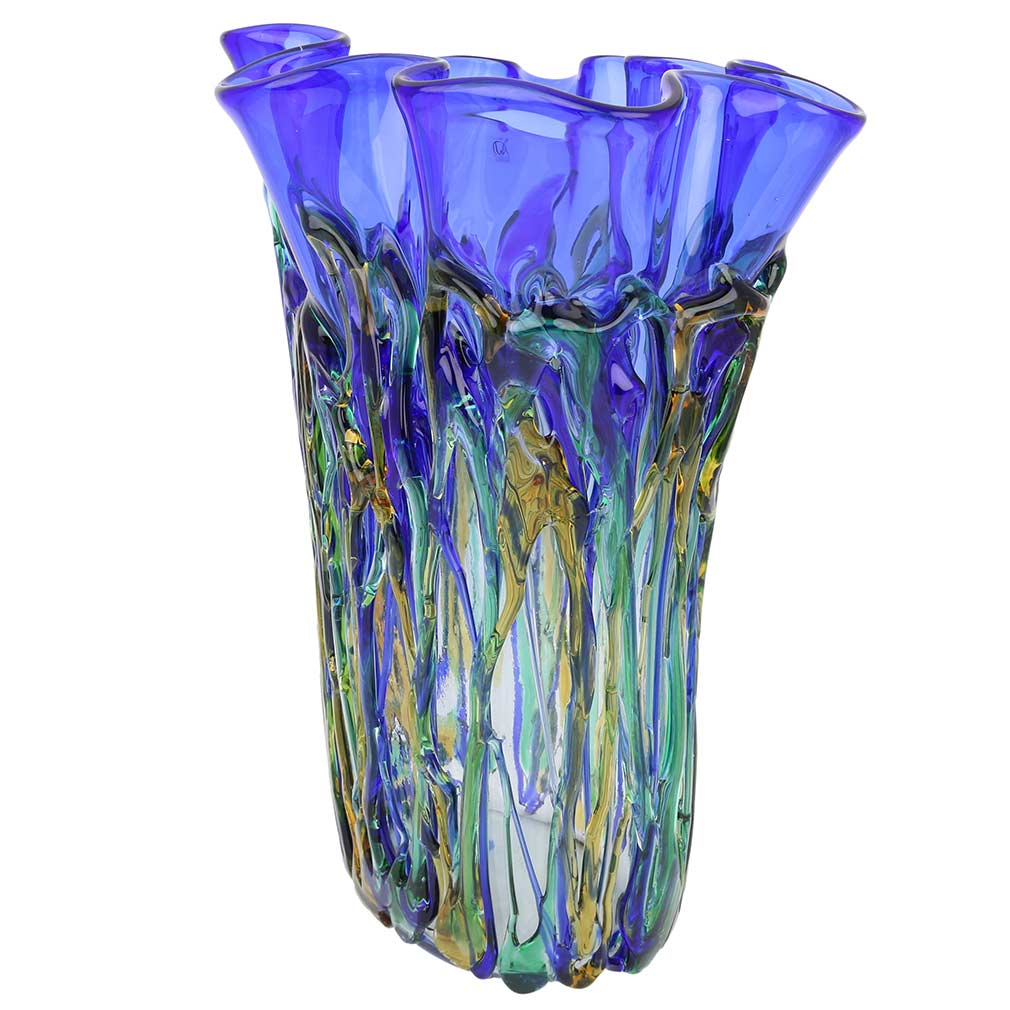 murano glass vases murano glass oceanos abstract art vase. Black Bedroom Furniture Sets. Home Design Ideas