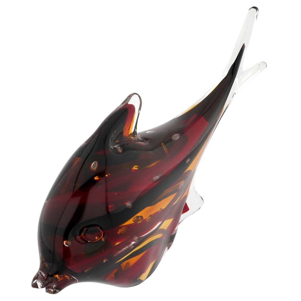 Murano Art Glass Fish - Sommerso