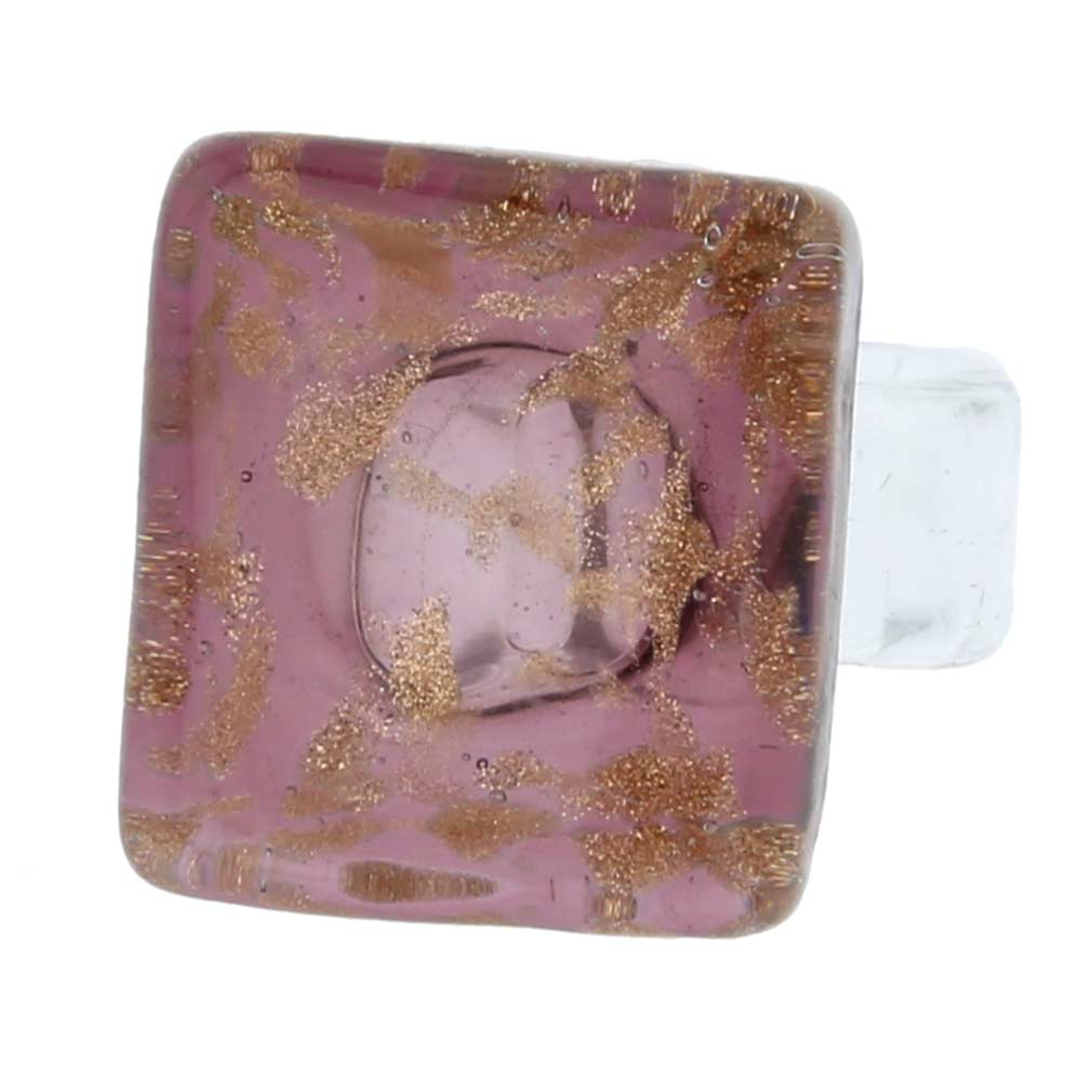 Starlight square ring - amethyst