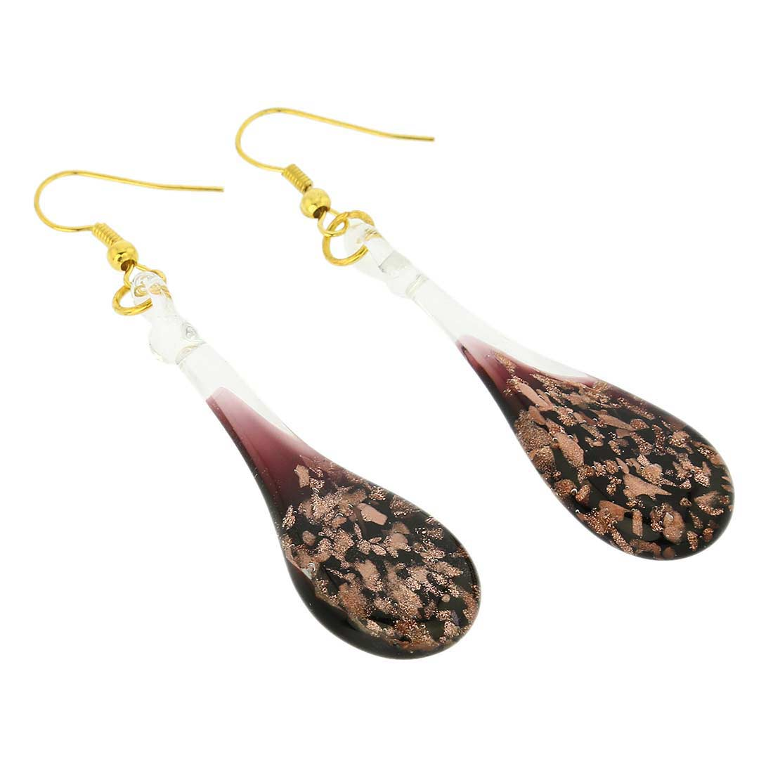 Starlight icicle earrings - black