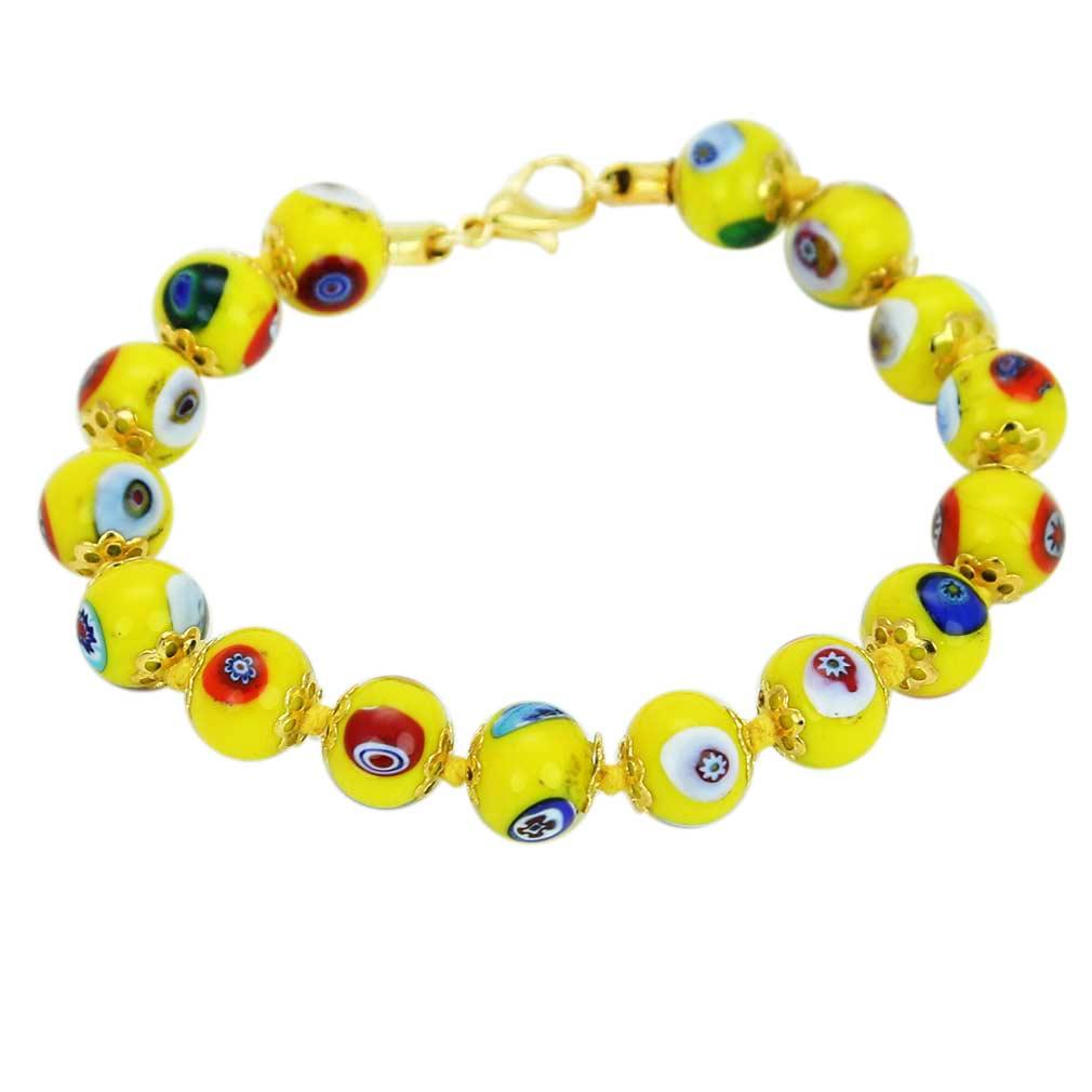 Murano Mosaic Bracelet - Yellow