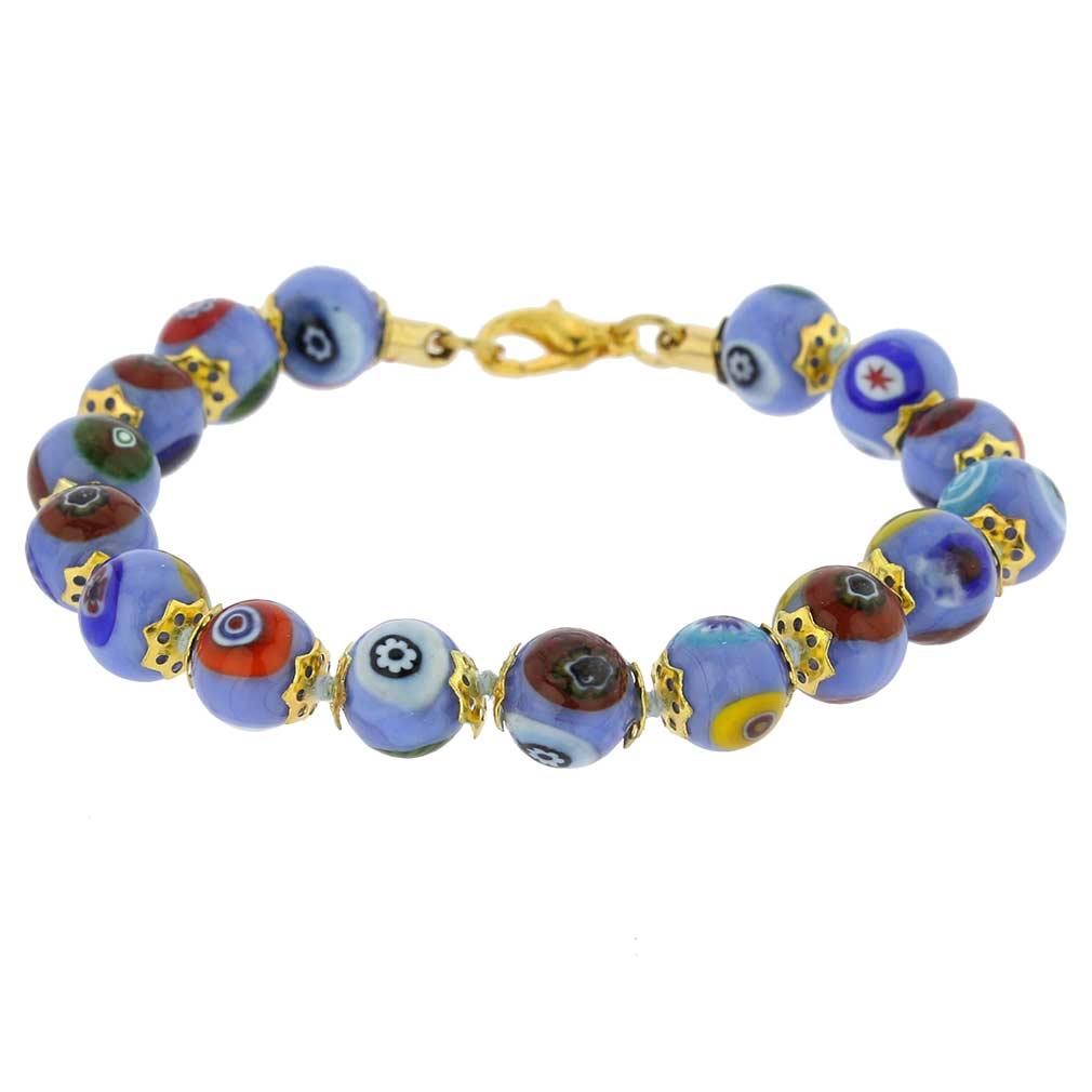 Murano Mosaic Bracelet - Sky Blue
