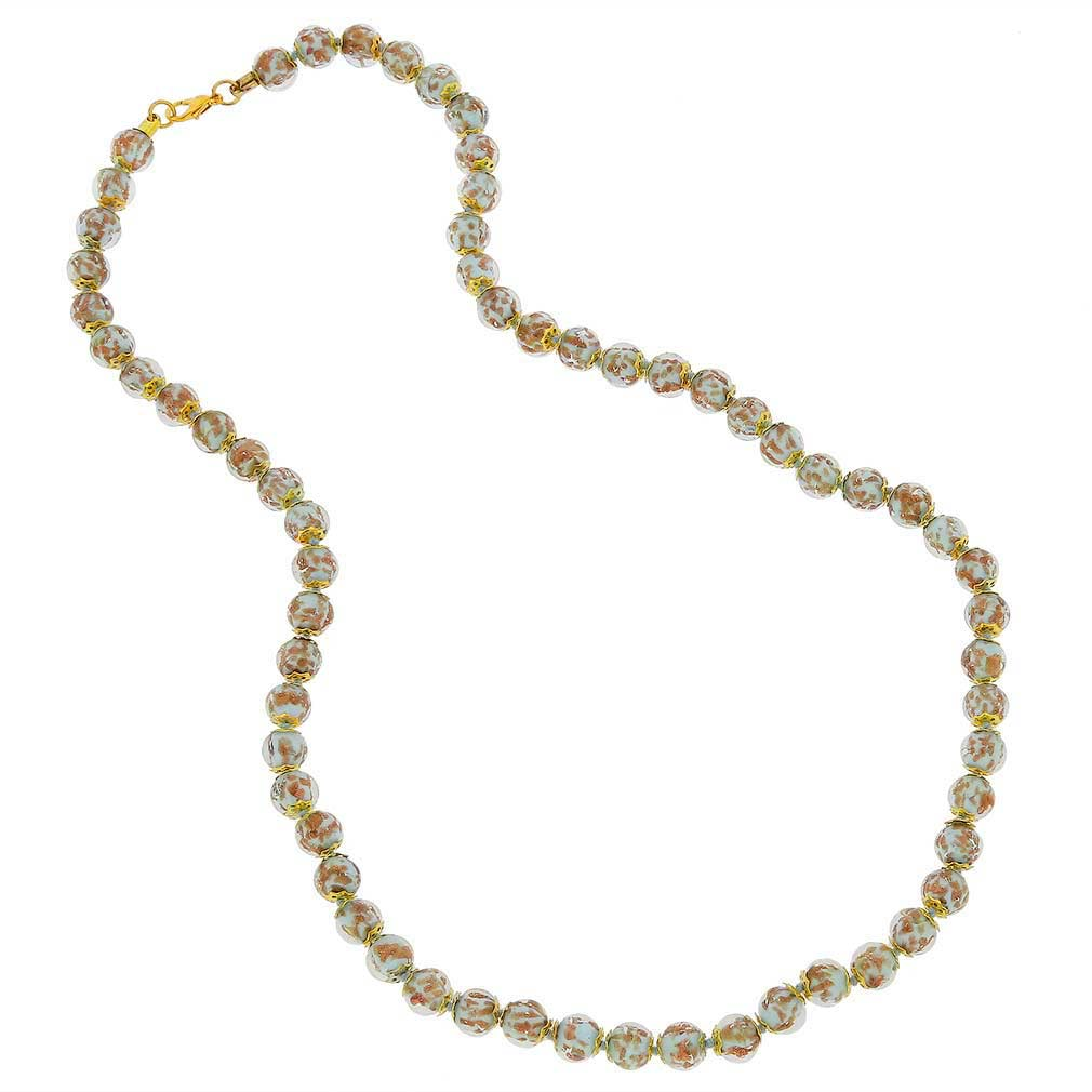 Sommerso Long Necklace - Aqua
