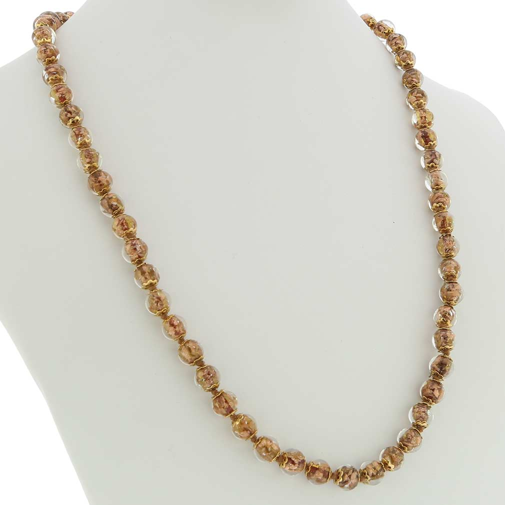Sommerso Long Necklace - Transparent Amber