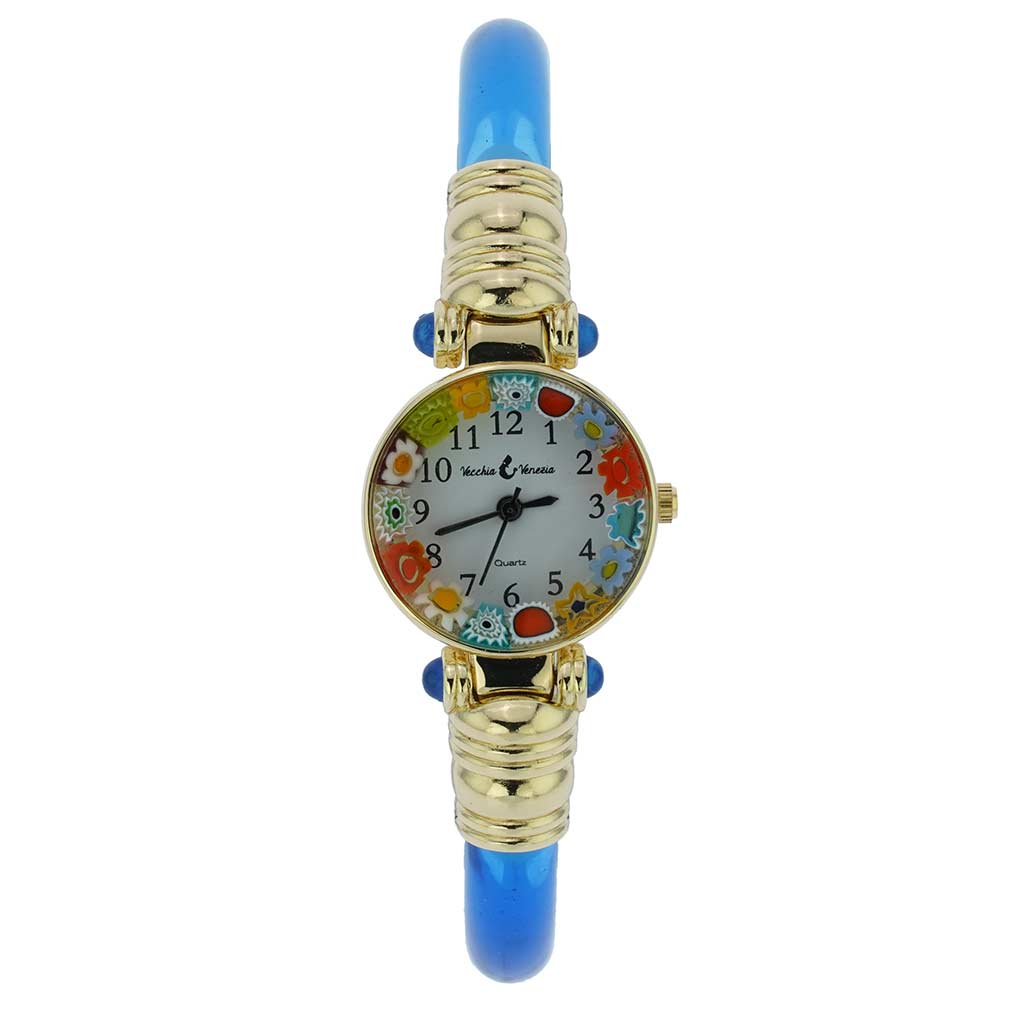 Murano Millefiori Bangle Watch - Navy Blue