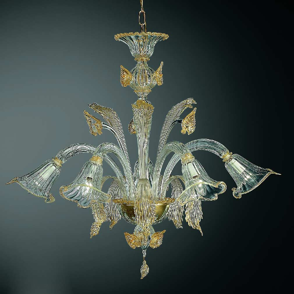 Aquatico Murano Glass Chandelier