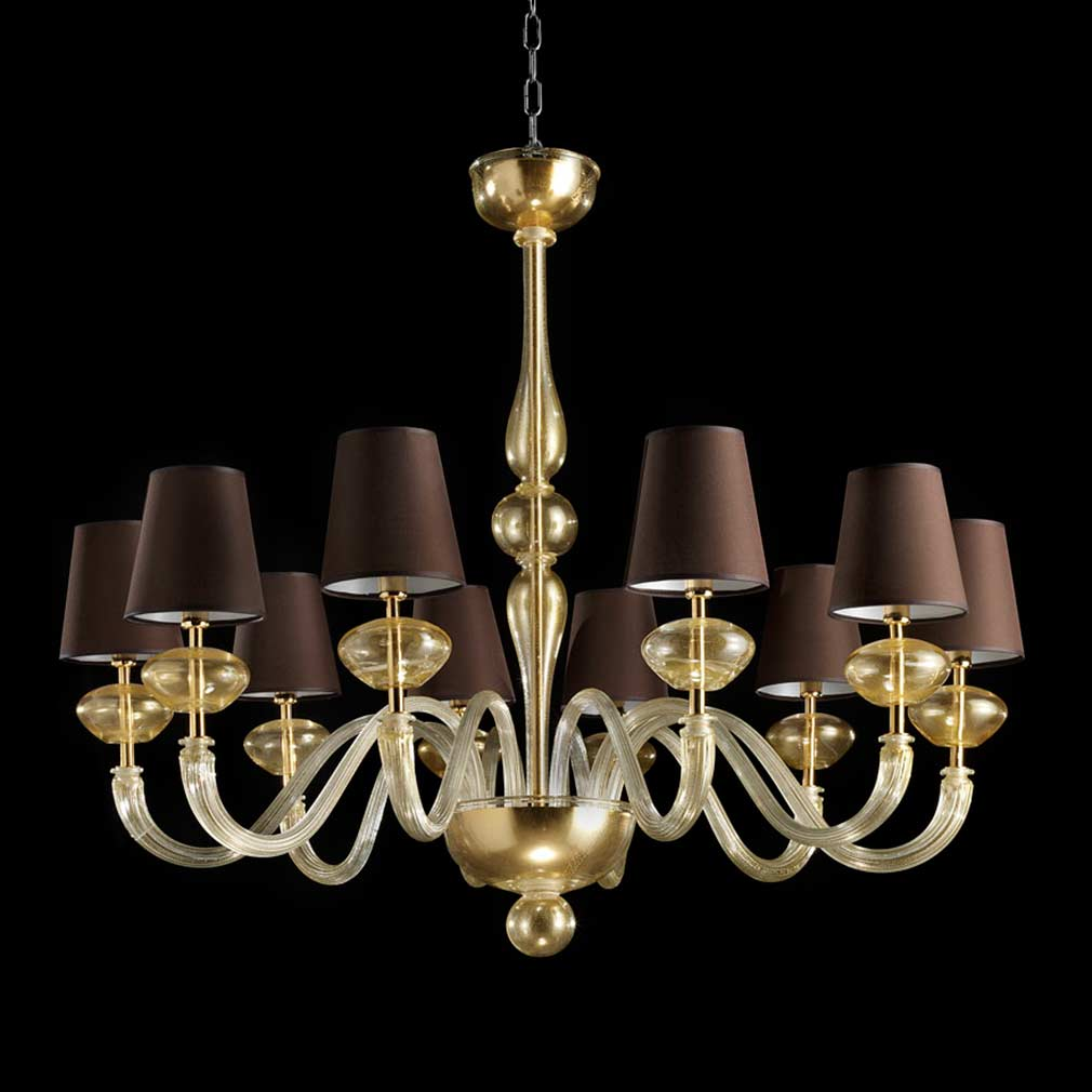 Small Murano Crystal Chandelier: Murano Glass Chandelier