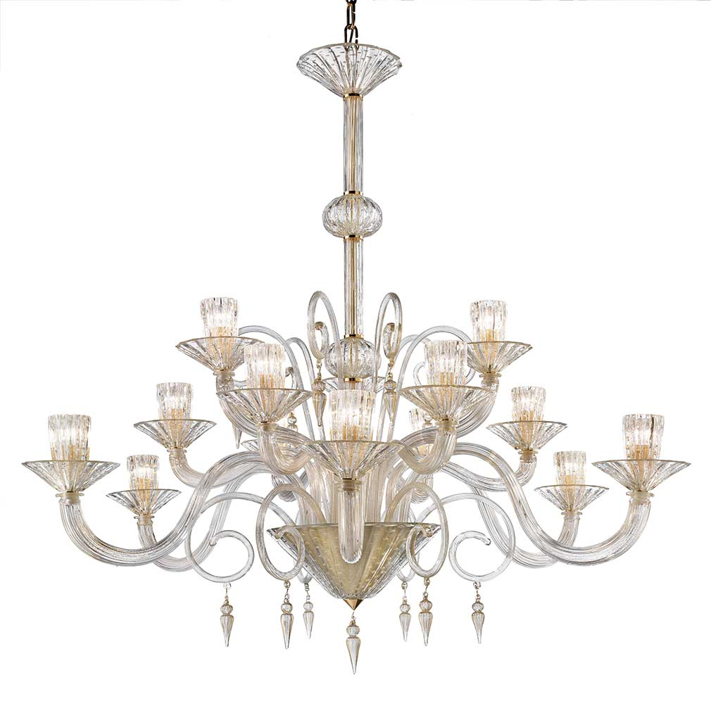 Red Murano Chandelier: Italian Glass Chandelier