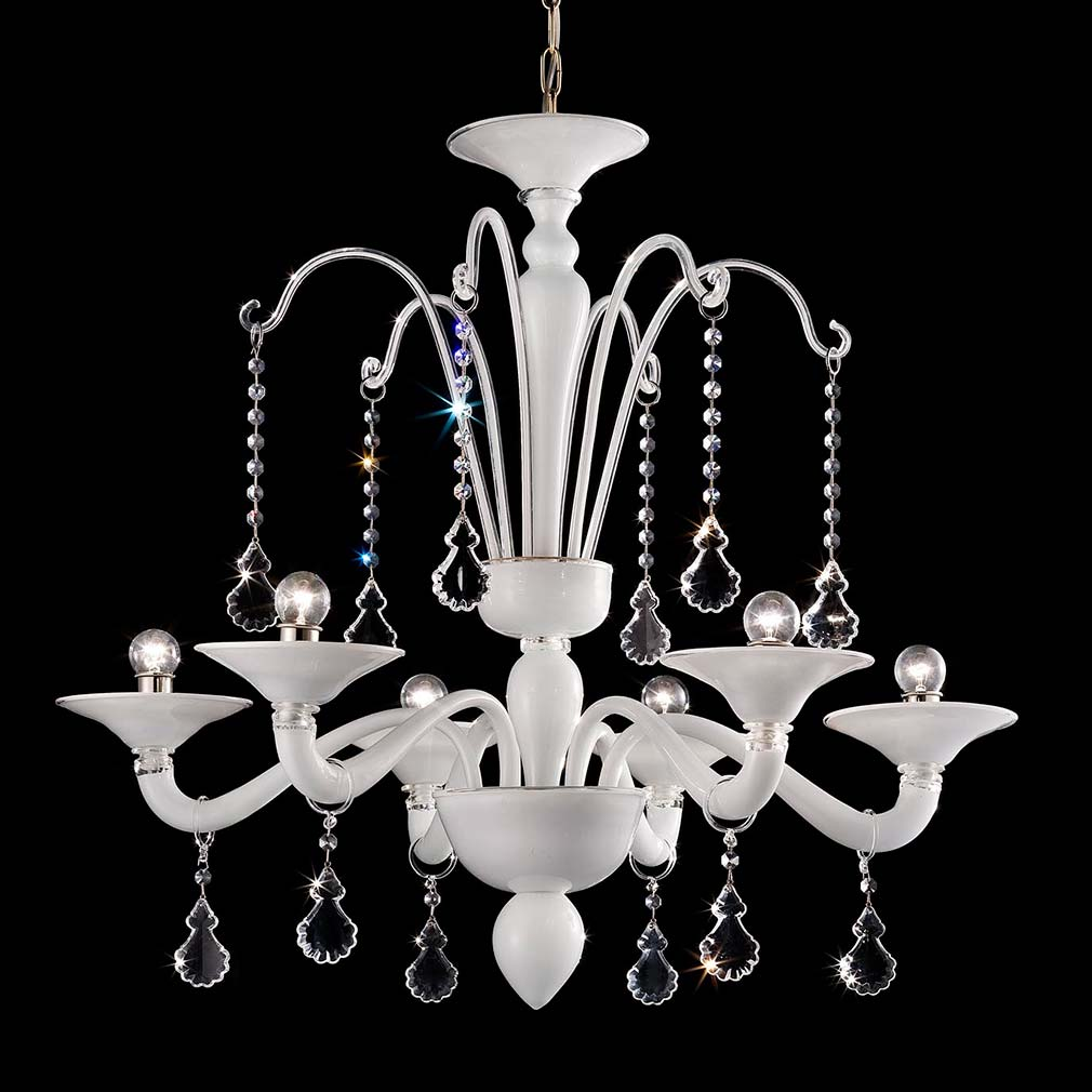 Ca Bianca Murano Glass Chandelier
