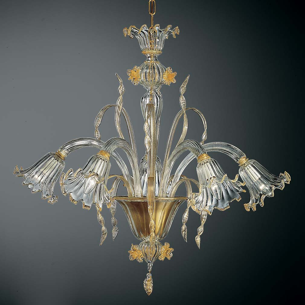 Cesare Murano Glass Chandelier