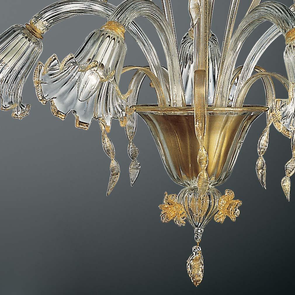 Cesare Murano Glass Chandelier