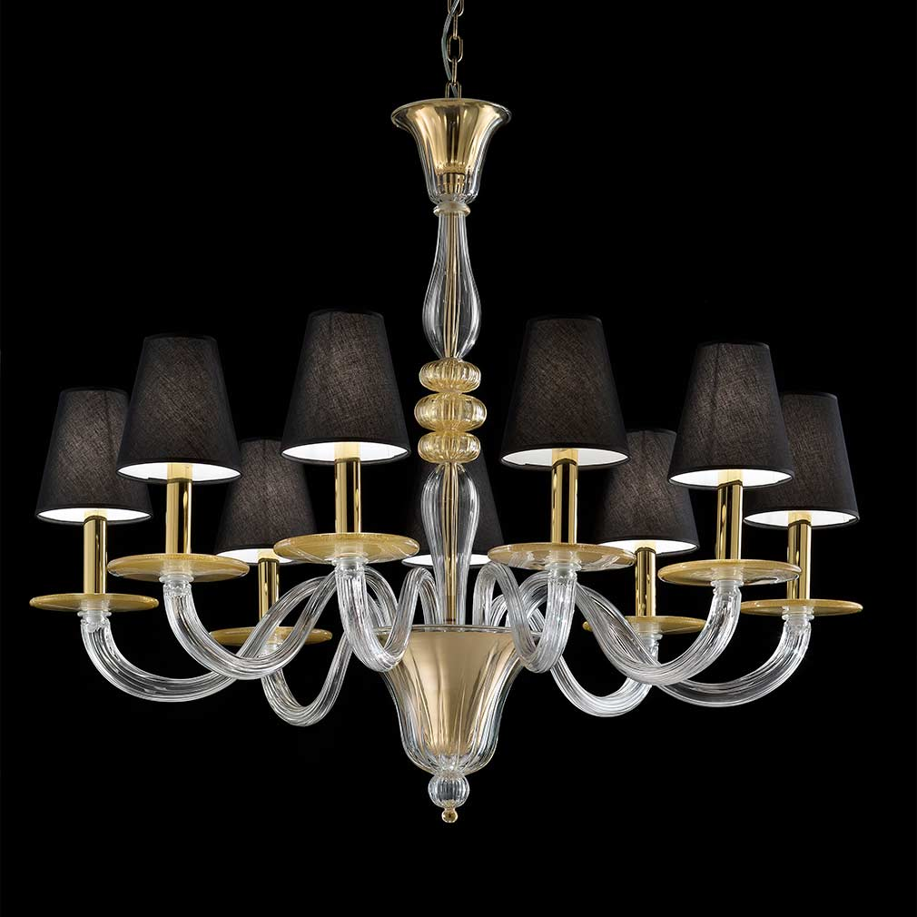 Pitagora Murano Glass Chandelier