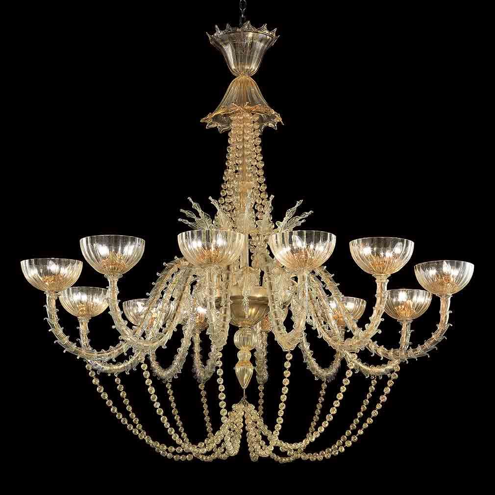 Roberta Murano Glass Chandelier