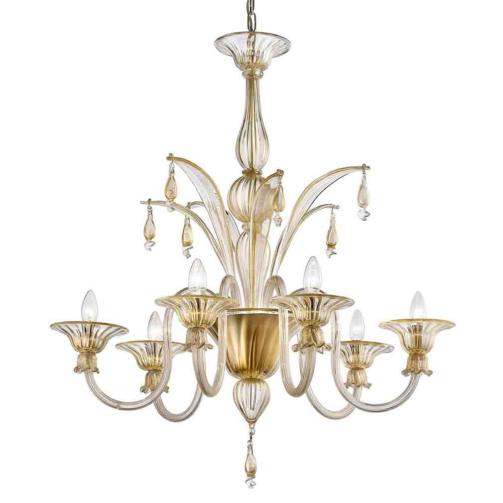 Redentore Murano Glass Chandelier