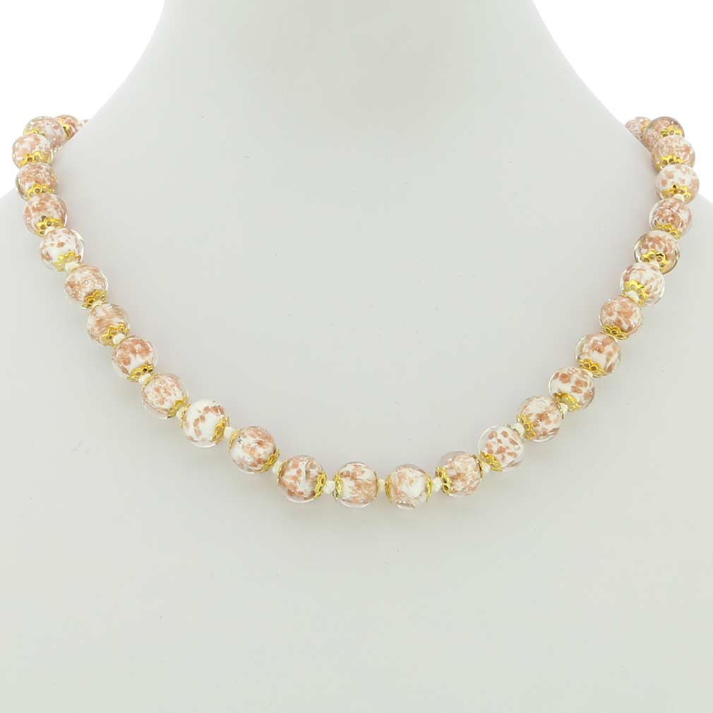 Sommerso necklace - milky white
