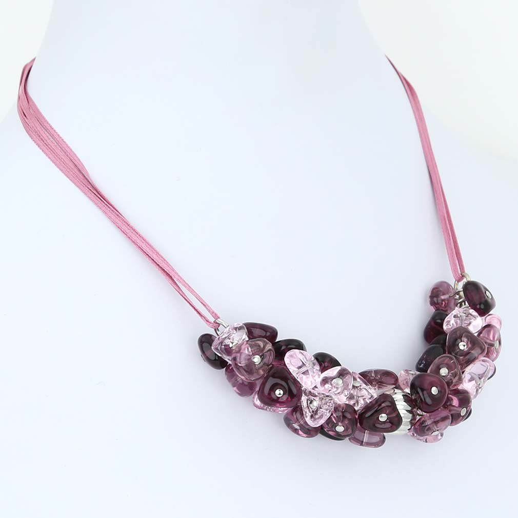 Preziosa Murano Glass Necklace - Amethyst