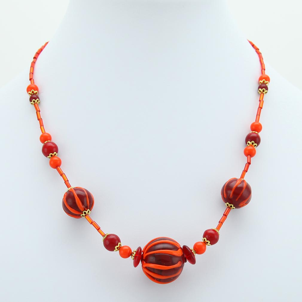 Fire Ball Necklace