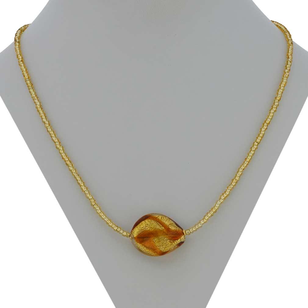 Royal Cognac Spiral necklace