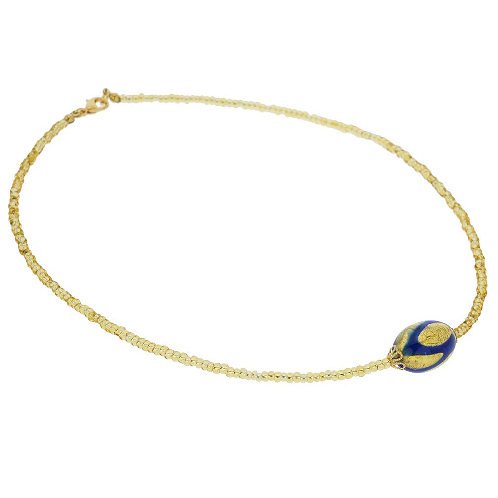 Royal Blue Capsule necklace