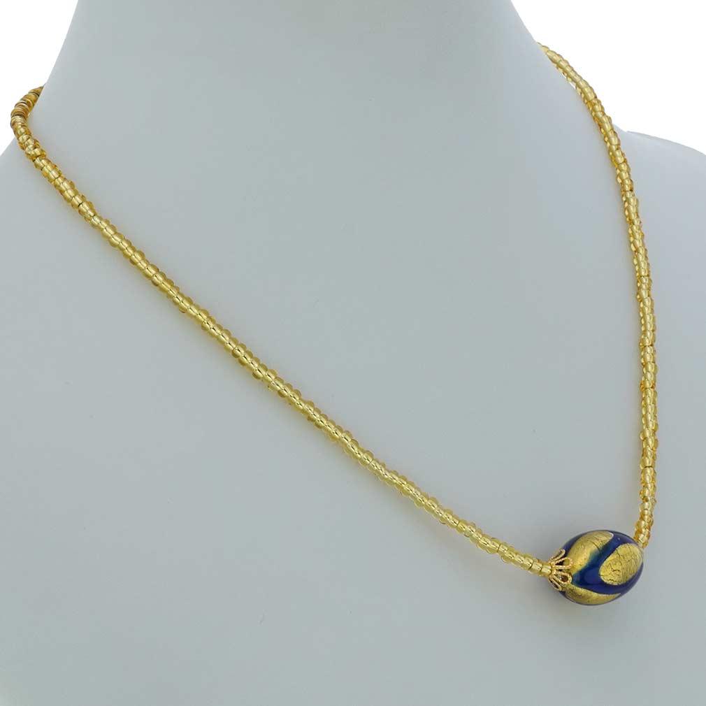 Royal Blue Capsule necklace