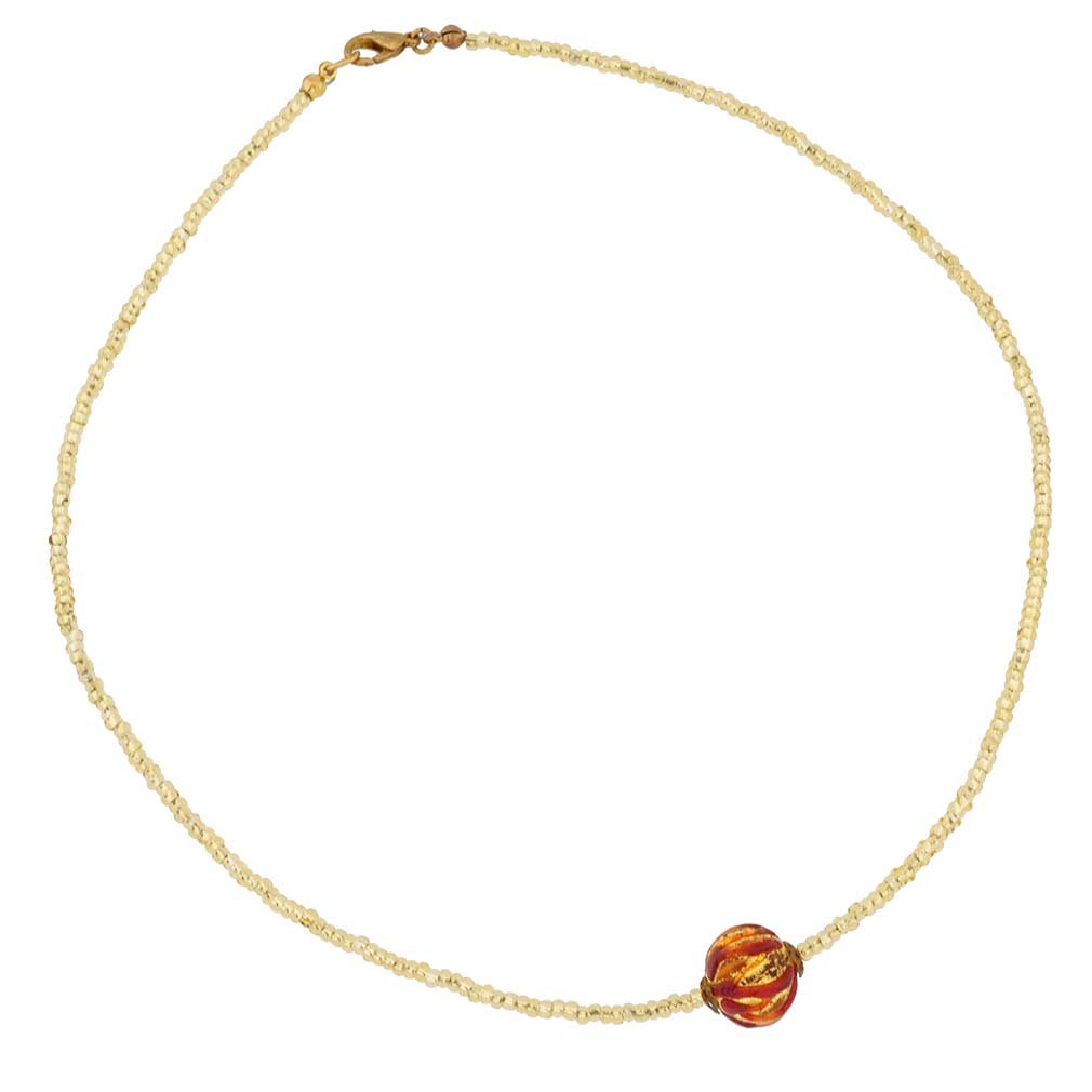 Royal Red Ball necklace
