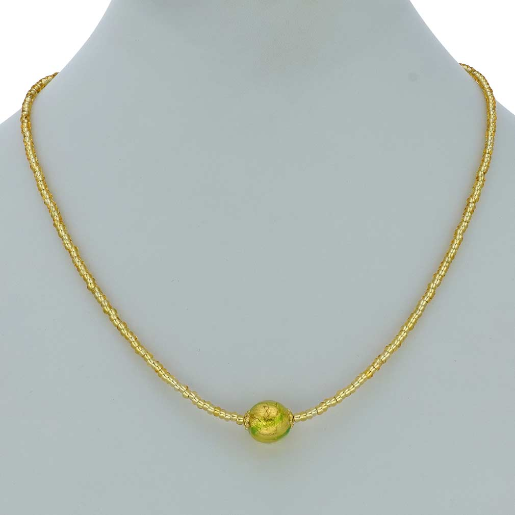 Royal Green Ball Necklace