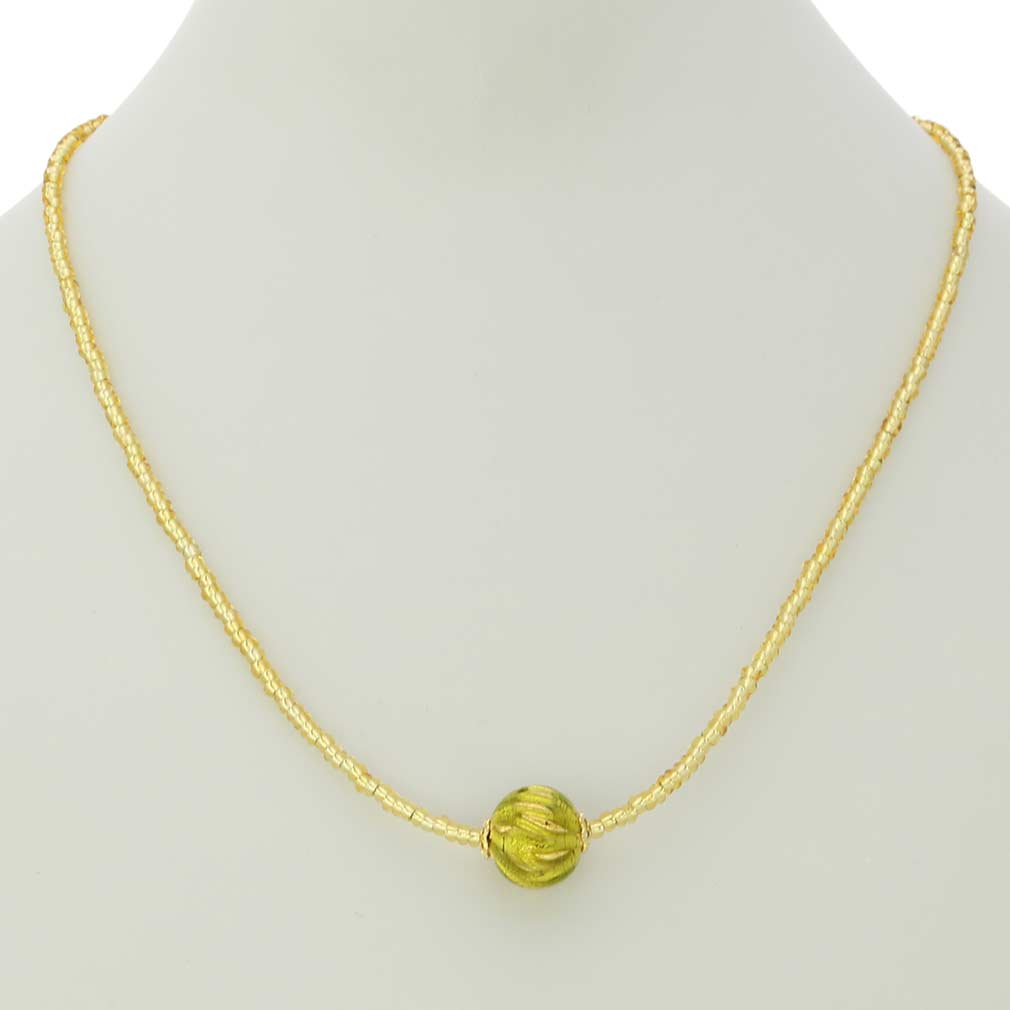 Royal Herb Green Ball Necklace