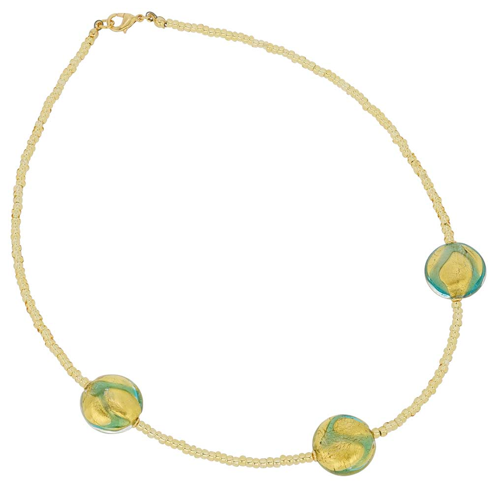 Royal Aquamarine Circles necklace