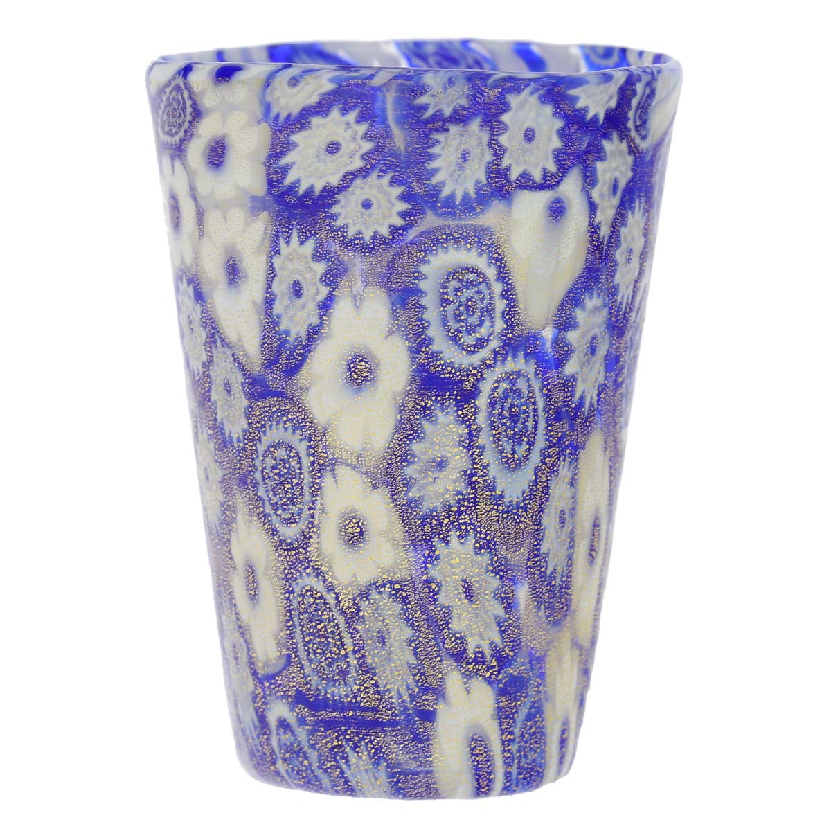 Murano Millefiori Shot Glass - Blue Gold