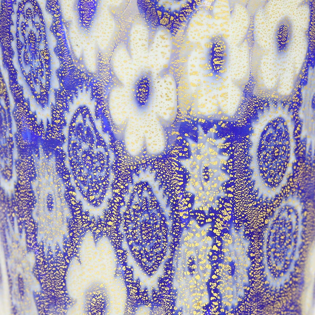 Murano Millefiori Shot Glass - Blue Gold