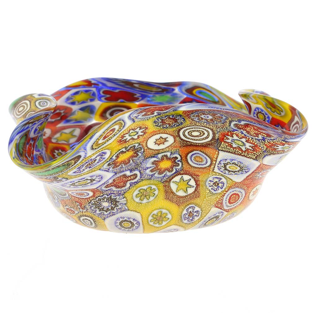 Golden Quilt Millefiori Decorative Bowl