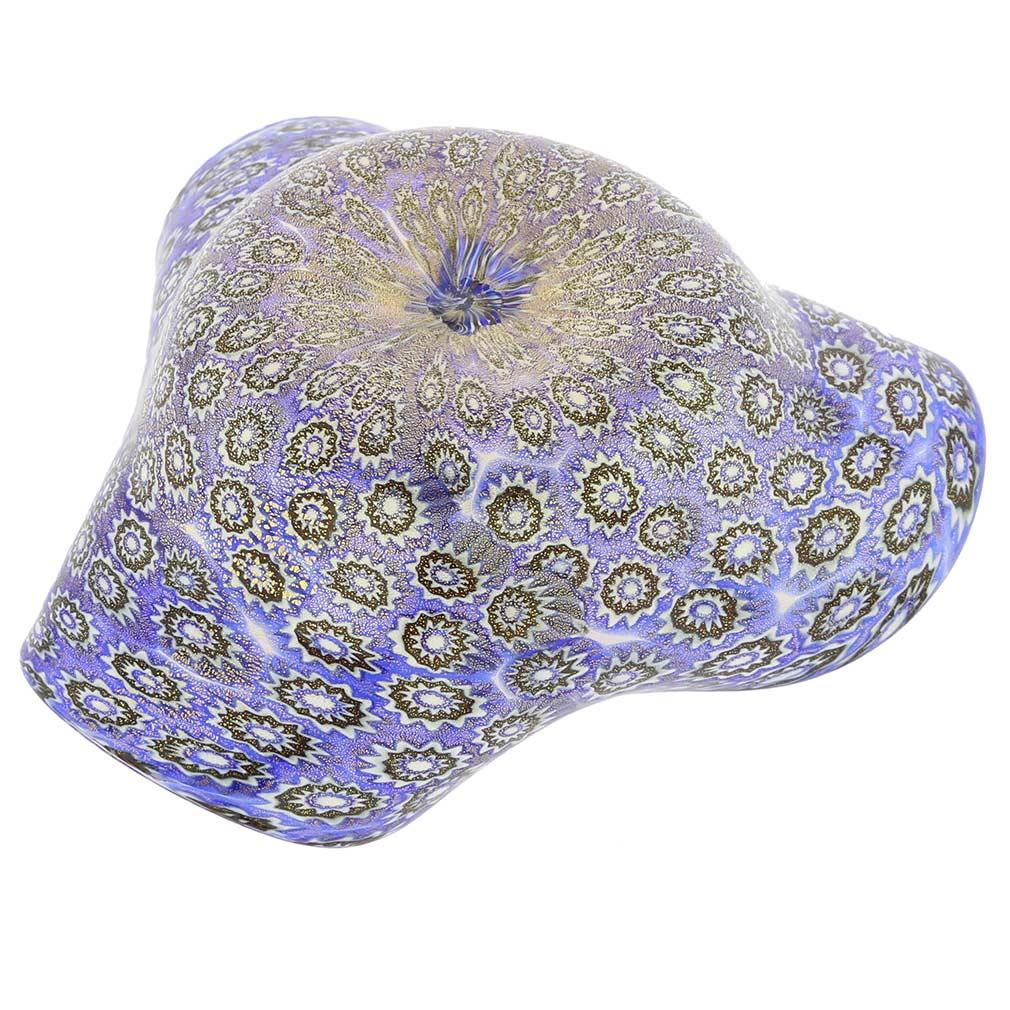 Murano Millefiori Decorative Bowl - Classic Blue