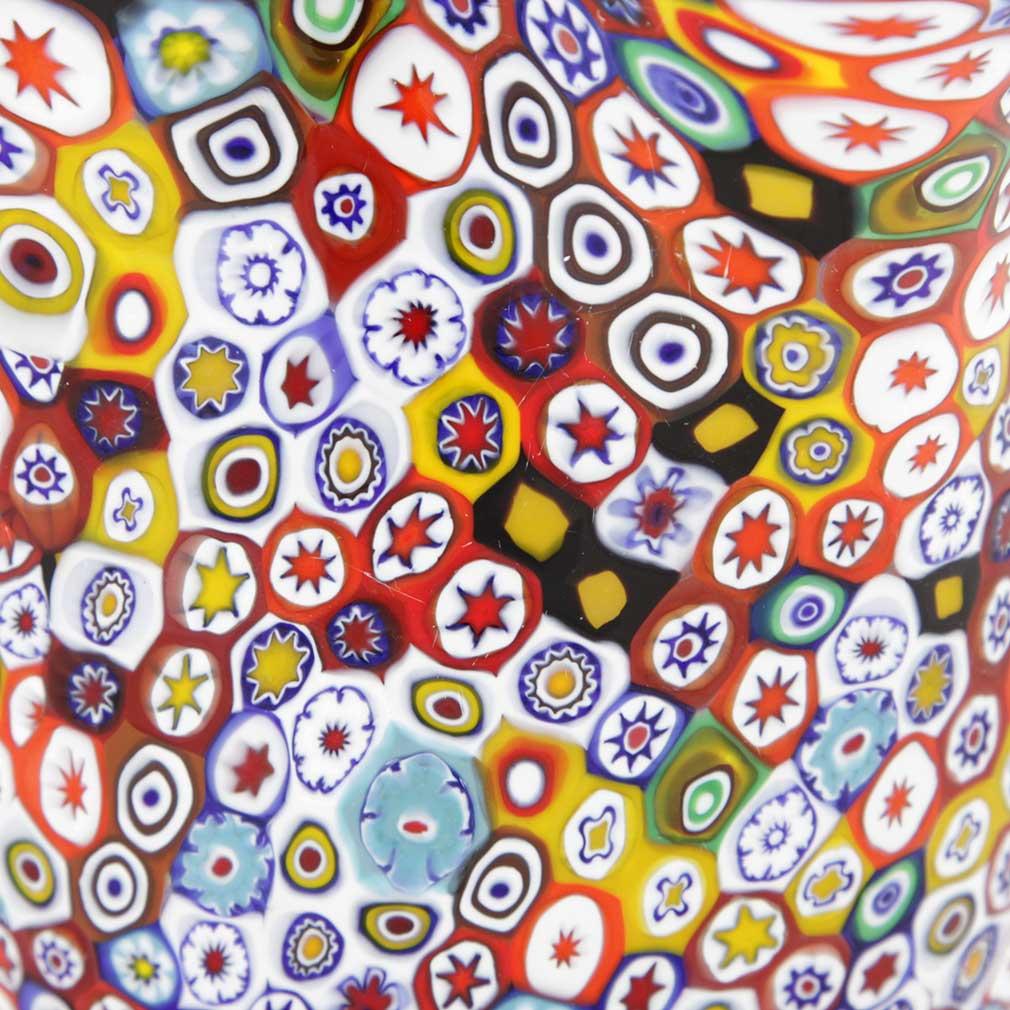 Murano Glass Millefiori Fazzoletto Bowl - Multicolor