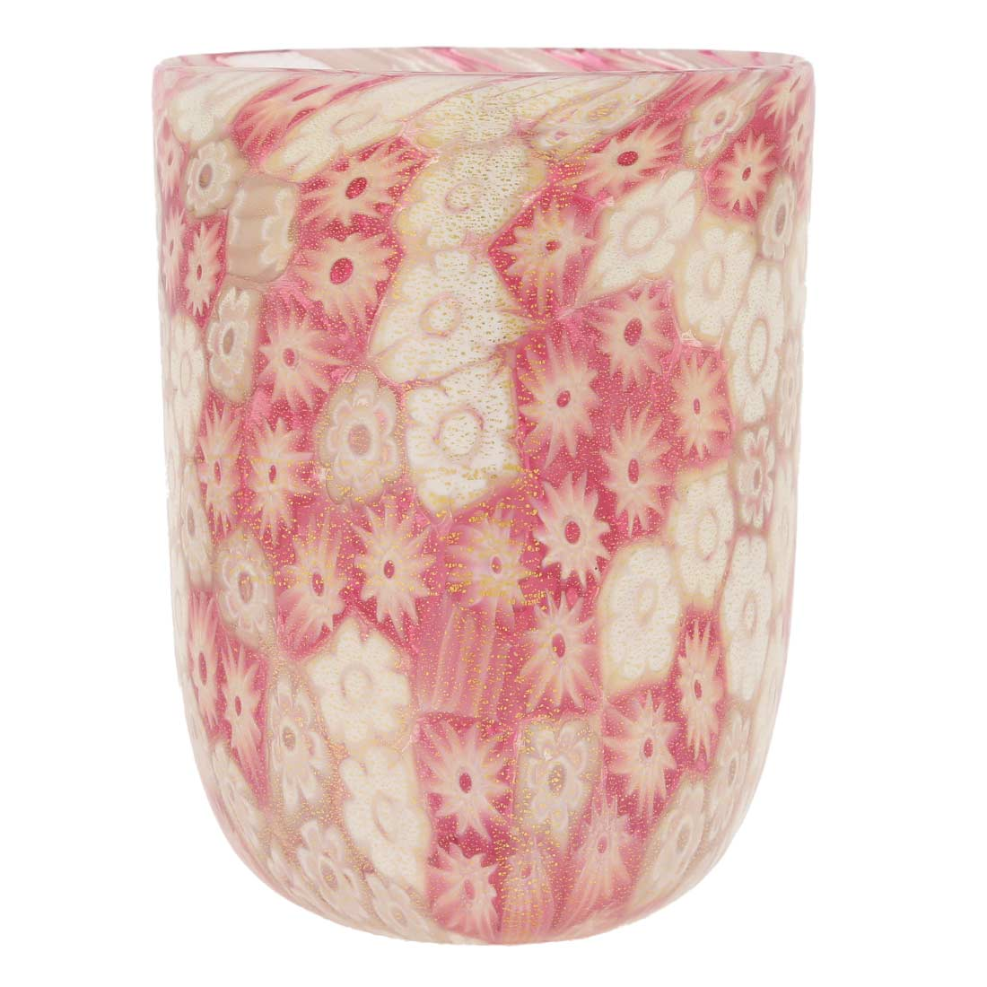 Murano Tumbler - Rose Gold Millefiori