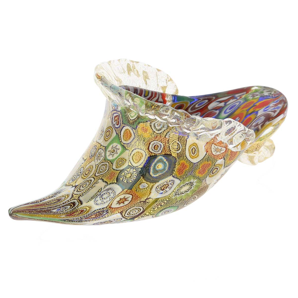 Golden Quilt Millefiori Murano Slipper