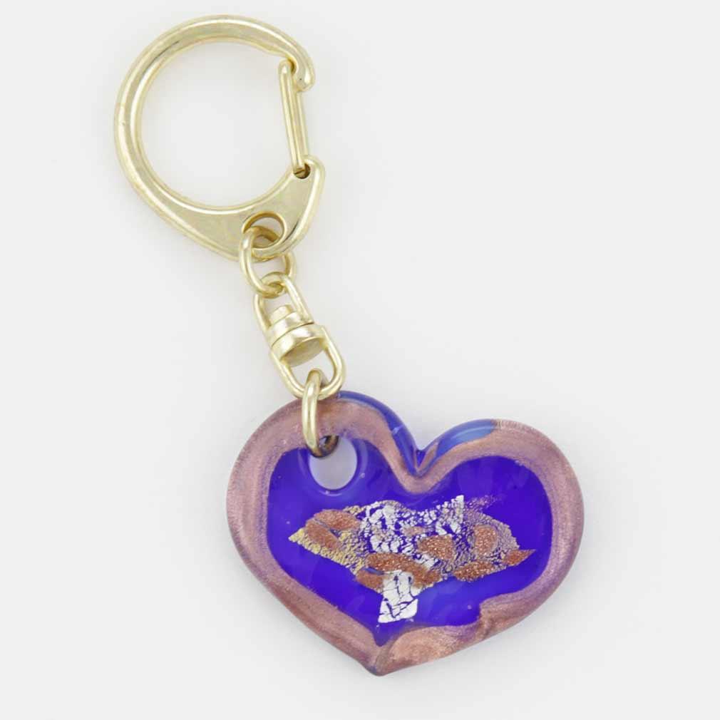 Murano Heart Keychain #5