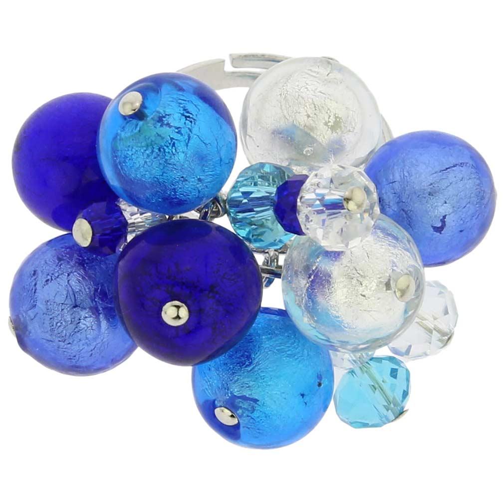 Sorgente Murano Glass Ring - Blue
