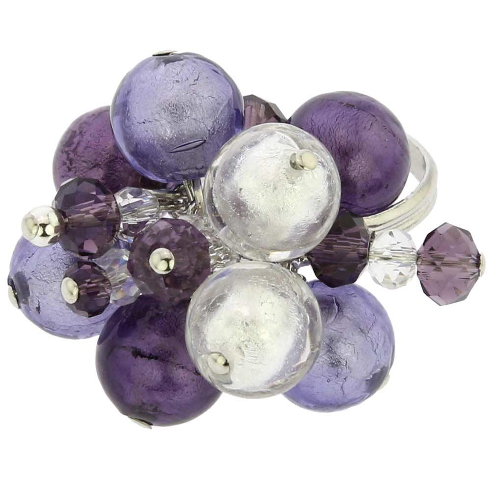Sorgente Murano Glass Ring - Amethyst