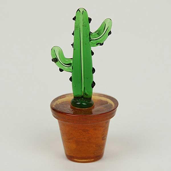 Art Glass Desert Cactus