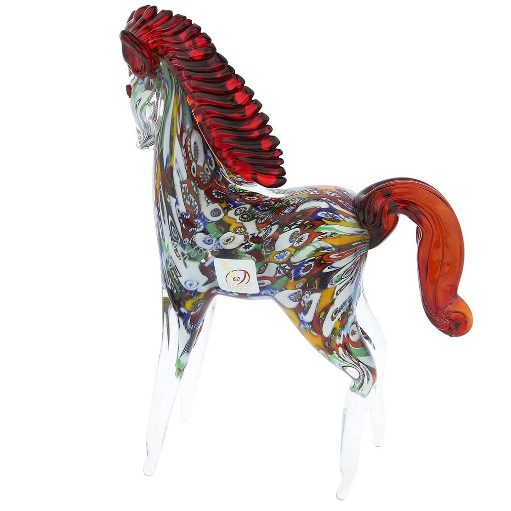 Murano Sculptures Murano Art Glass Millefiori Horse