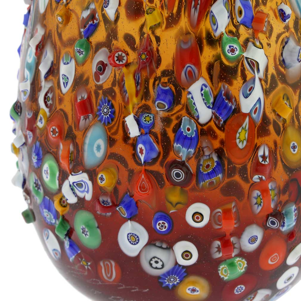 Murano Glass Vases Murano Millefiori Mosaic Blooming