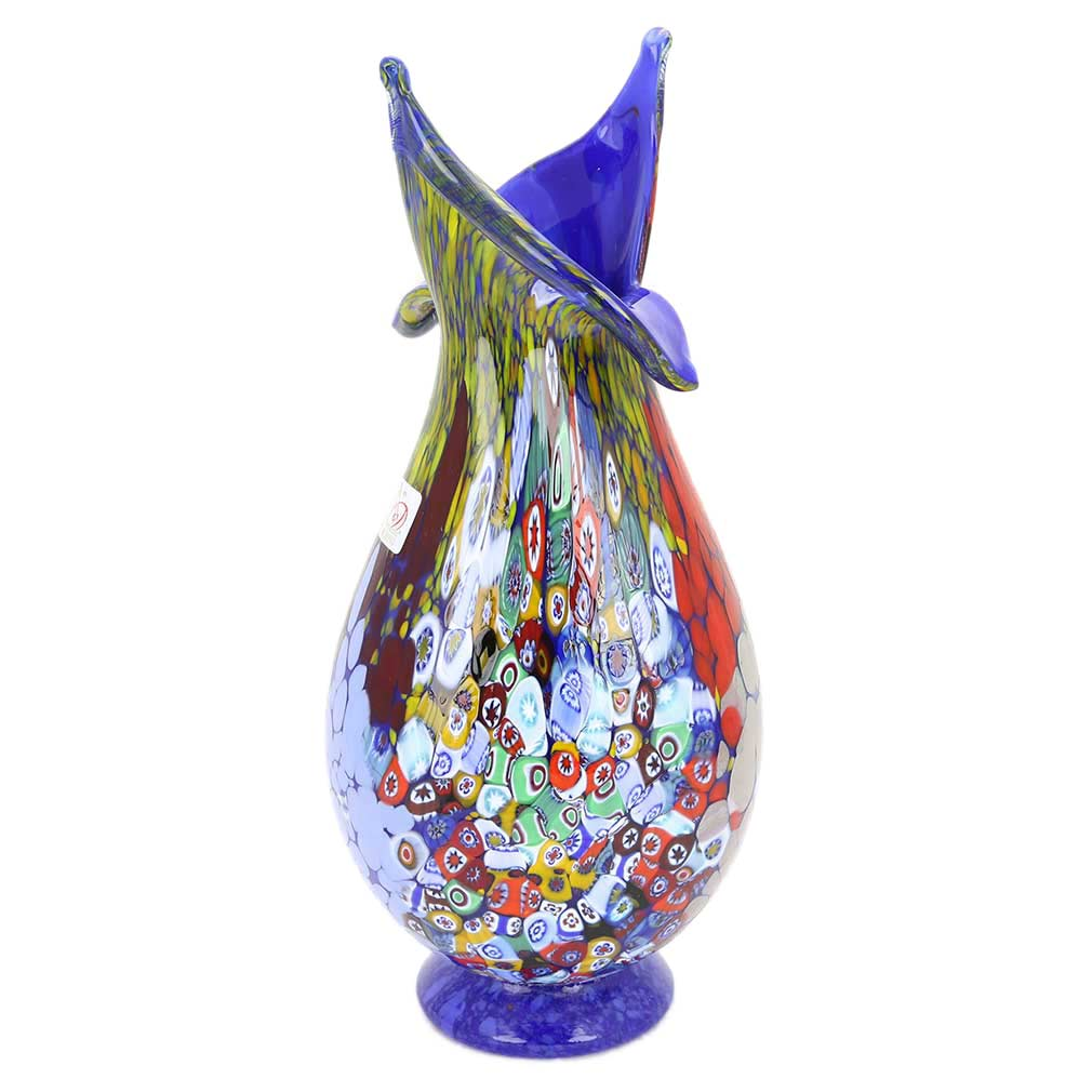 murano glass vases murano millefiori art glass blooming. Black Bedroom Furniture Sets. Home Design Ideas