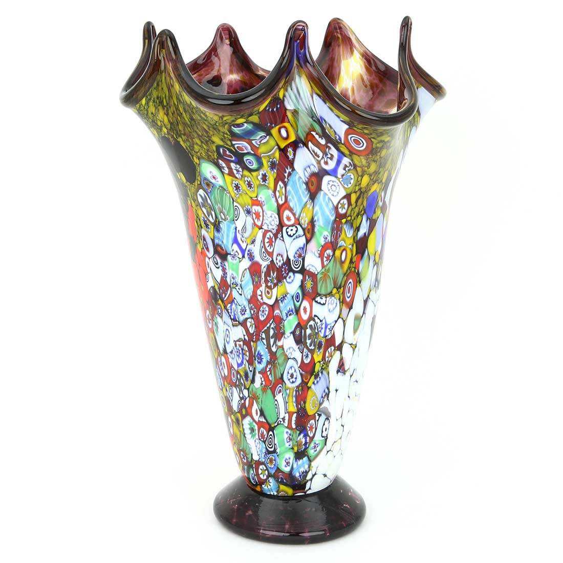 murano millefiori vase decorative glass vases glass of venice. Black Bedroom Furniture Sets. Home Design Ideas