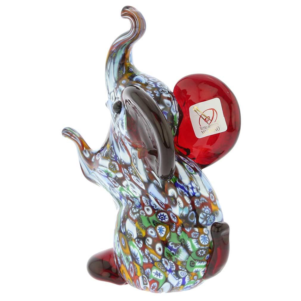 Murano Art Glass Millefiori Elephant Sculpture