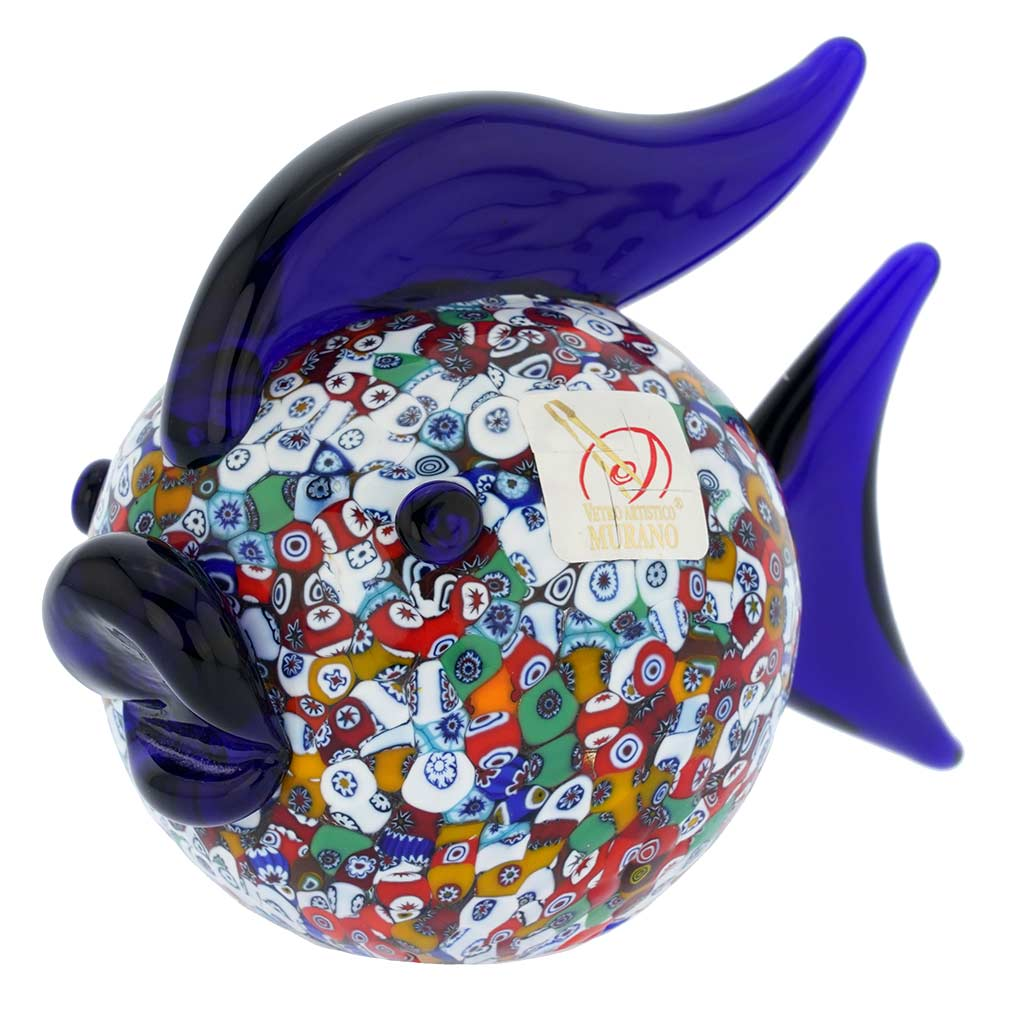 Murano Art Glass Millefiori Fish Sculpture